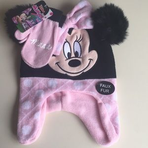 Disney Minnie Mouse Hat and Glove Set